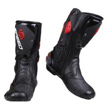 high quality new PRO-BIKER SPEED BIKERS Motorcycle Boots Moto Racing Motocross Off-Road Motorbike Shoes Black/White/Red Big