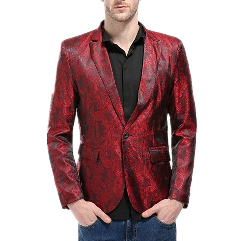 De Y Alta Slim rojo Oscuro azul Hombres Los Marino Masculino oro púrpura  Terno palacio Negro Blazer Lujo Moda Patrones Ocio Traje Estilo Americanas  Fit ... 4c1eb91a88c