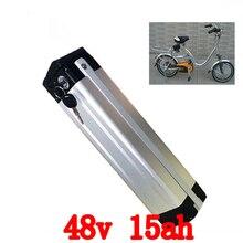 Нижняя выпускное отверстие 48 В 15AH Электрический велосипед литиевая батарея батареи питания 48 В велосипед батареи алюминиевый корпус with15A bms