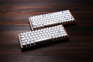 Image 2 - gk64 gk84 Mechanical keyboard 64 key 84 key dye sub keycaps wooden custom light rgb cherry profile keycap starry night free ship