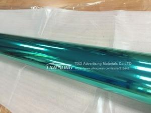 Image 4 - Free shipping Stretchable tiffany blue chrome mirror vinyl Chrome mirror film wrap Mirror Car Sticker 10/20/30/40/50/60x152CM