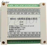 Adquisición de salida analógica 0-20MA/4-20MA/0-5 V/0-10 V/+ 10V módulo RS485 MODBUS