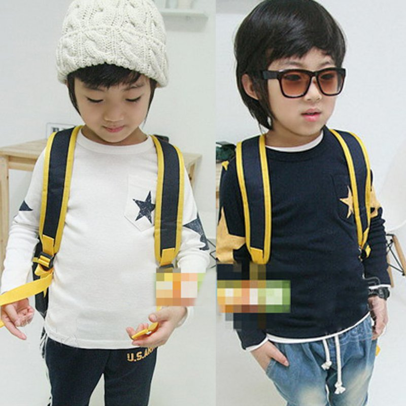 Kids-Boy-Toddler-Baby-Star-Pattern-Long-Sleeve-Tops-T-shirt-Shirt-Outfit-Clothing-3