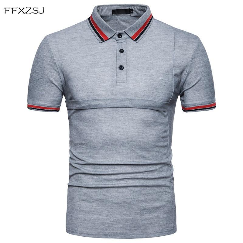Νέο 2018 αρσενικό λεπτό πουκάμισο πόλο - Ανδρικός ρουχισμός - Φωτογραφία 1