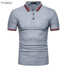 Naujas 2018 m. Vyriškas plonaspalvotas polo marškinėliai atsitiktinis vasara Tops prekės Pranešk apie netikrą kišenę Medvilnė kvėpuojanti trumpa rankovėle polo Marškinėliai vyrų ES didelis dydis