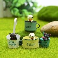 INKANEAR B04 ZAKKA Mini Resin Bucket Dog Puppy Bonsai Micro Fairy Miniatures Decoration Toys Terrarium Ornament