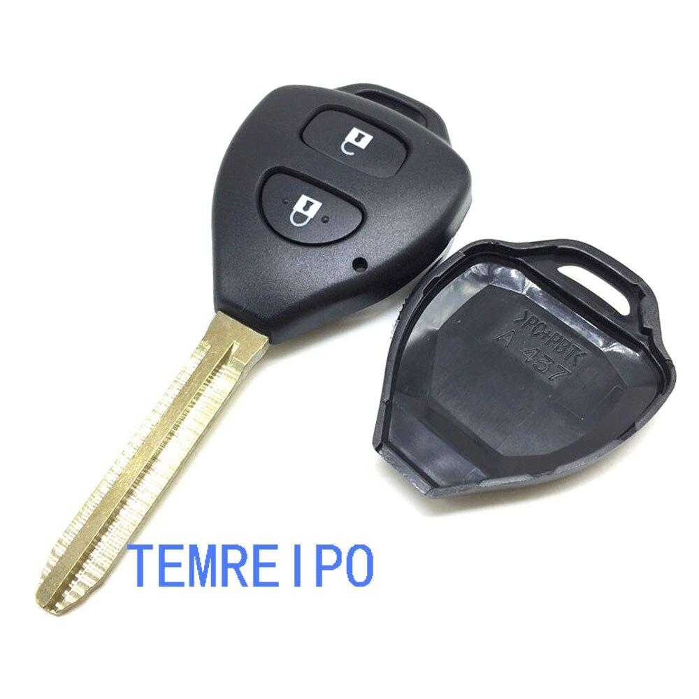 20 шт./лот автоматического входа systen для Toyota Camry 2 кнопки дистанционного ключа оболочки toy43 Замена ввода ключа режиссерский лезвие