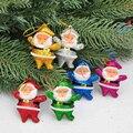 6 шт./Лот, подвесное украшение для рождественской елки, Прямая поставка вечерние Рождественские Подвески в виде Санта-Клауса, рождественски...