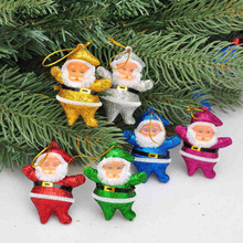 6PCS/Lot Xmas Tree Hanging Home Decoration Party Dropshiping Christmas Santa Claus Pendant christmas decorations for home 2017