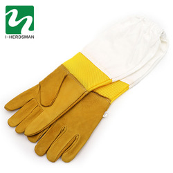 New Extra Large Beekeeping Gloves made with goatskin and thick vented cotton sleeves Bee Hive Farm Equipment