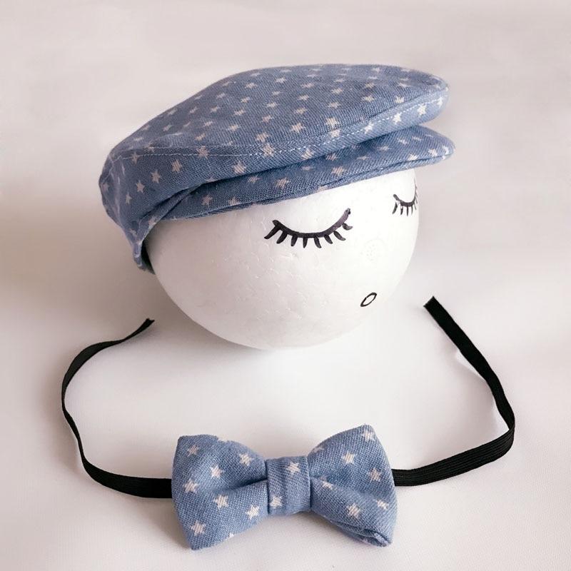 Crochet Baby Boy Gentleman Cap Bow Tie Set Տրիկոտաժե - Հագուստ նորածինների համար - Լուսանկար 4
