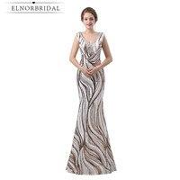Prawdziwe Zdjęcia Mermaid Suknie Wieczorowe Długie 2018 Robe De Wieczór Frezowanie Cekiny Kobiety Formalne Suknie Galajurk Prom Dress