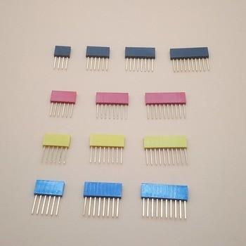 50PCS 4Pin 6Pin 8Pin 10Pin Single Row Female Pin Header 2.54MM Pitch Straight Pin long 11MM Connector Socket For Arduino PCB цена 2017