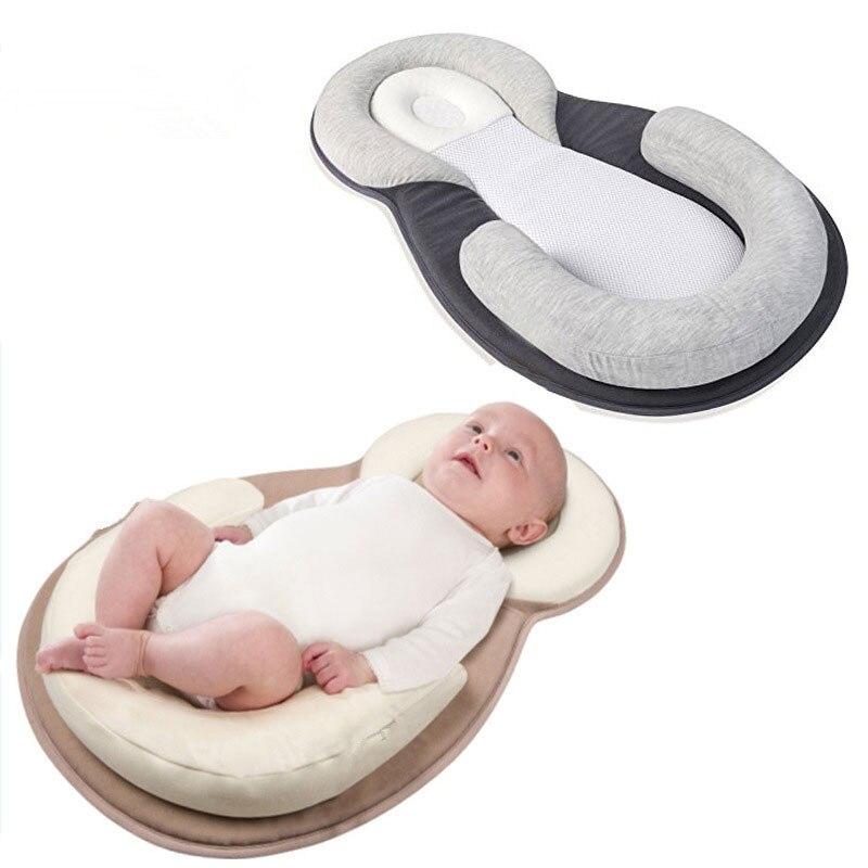 Bébé façonnage oreiller infantile nouveau-né matelas oreiller Anti tête plate façonnage oreiller bébé soins infirmiers bébé tête Pad Portable bébé berceau