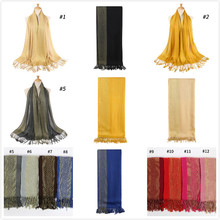50pcs/lot Plain Shimmer fashion printe solid color glitter viscose lurex long shawls muslim hijab winter wrap scarves/scarf