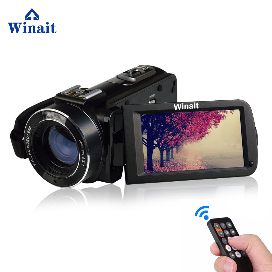 Winait FULL HD 1080P wifi digital video camera/3.0'' touch display digital camcorder with hot shoe and macro lens free shipping