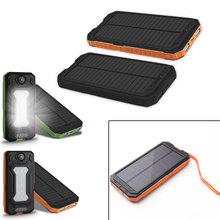 20000mAh kompas Camping światła słonecznego bateria przenośna ładowarka podwójne wyjście USB zewnętrzna bateria o dużej pojemności mobilna energia słoneczna tanie tanio centechia Panel słoneczny Krzem polikrystaliczny DZ00911-01 147*74*18mm 5V-1A 5V-2 1A Compass camping light solar mobile power
