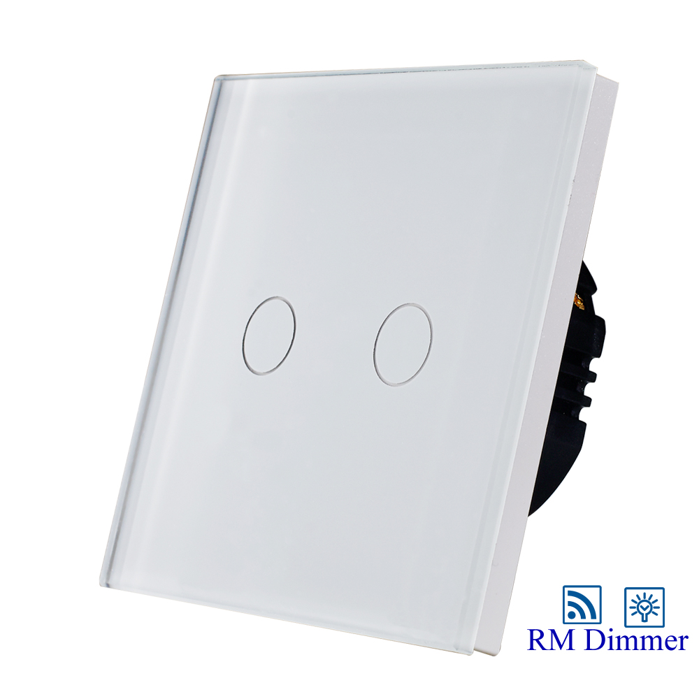 EU/UK standard 2gang1way remote dimmer switch,light dimmer switch for dimmable lamp elite kilter eu uk standard remote control touch dimmer switch smart switch led dimmer switch for dimmable spot lights