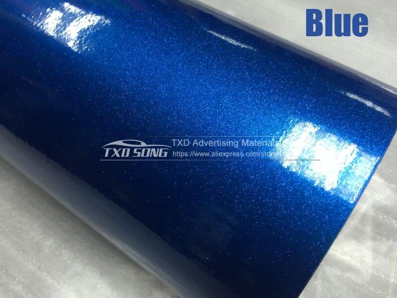 12/30/50/60 см X 100 см/лот Высокое качество Глянцевая блестящая Переливающаяся автомобиля Обёрточная бумага Цвет изменения фильм темно-серый глянцевый блеск виниловая наклейка - Название цвета: Blue