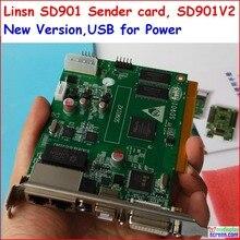 Linsn SD901 полный clolor rgb 1024*640/1280*512 пикселей dvi/rj45 порт синхронизации led studio SD901V2 Синхронных отправки карты
