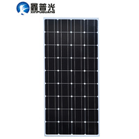 XINPUGUANG 100w Monocrystalline silicon cell solar panel 18v module Tempered glassplaca solar for 12v battery power charger