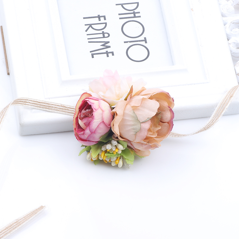 2018 New Style 2 Colors Kids Flower Hair Bands Hemp Rope Tie Girl Flower Scarf Hair Accessories For Child Newborn   Headwear