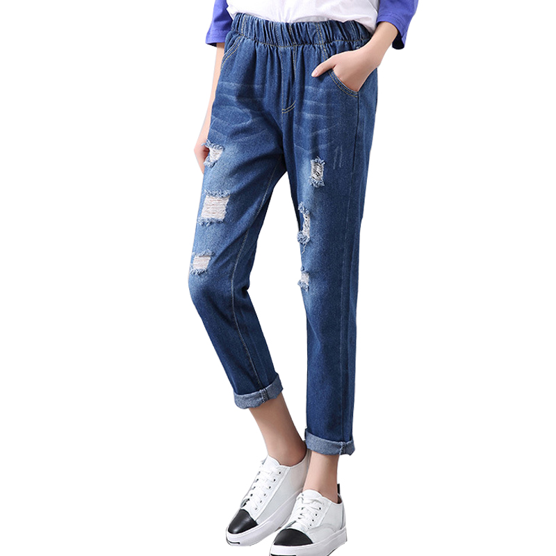 2018 Spring And Autumn New Women Trousers Fashion Jeans -9518
