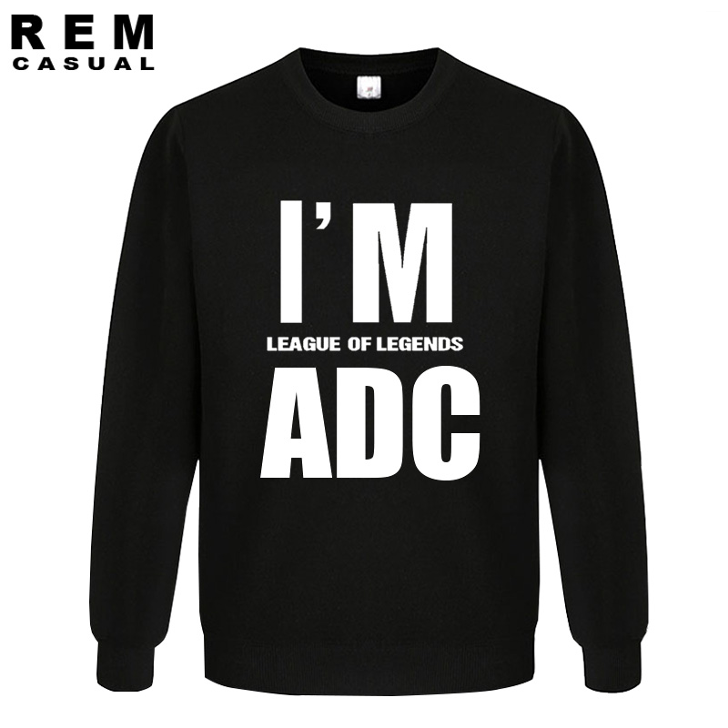 game I AM ADC Competitive game loose casual Ezreal Amumu Yi Katarina Twisted Fate Malphite Lux RIVAN Long Sleeve Hoodies, Sweats