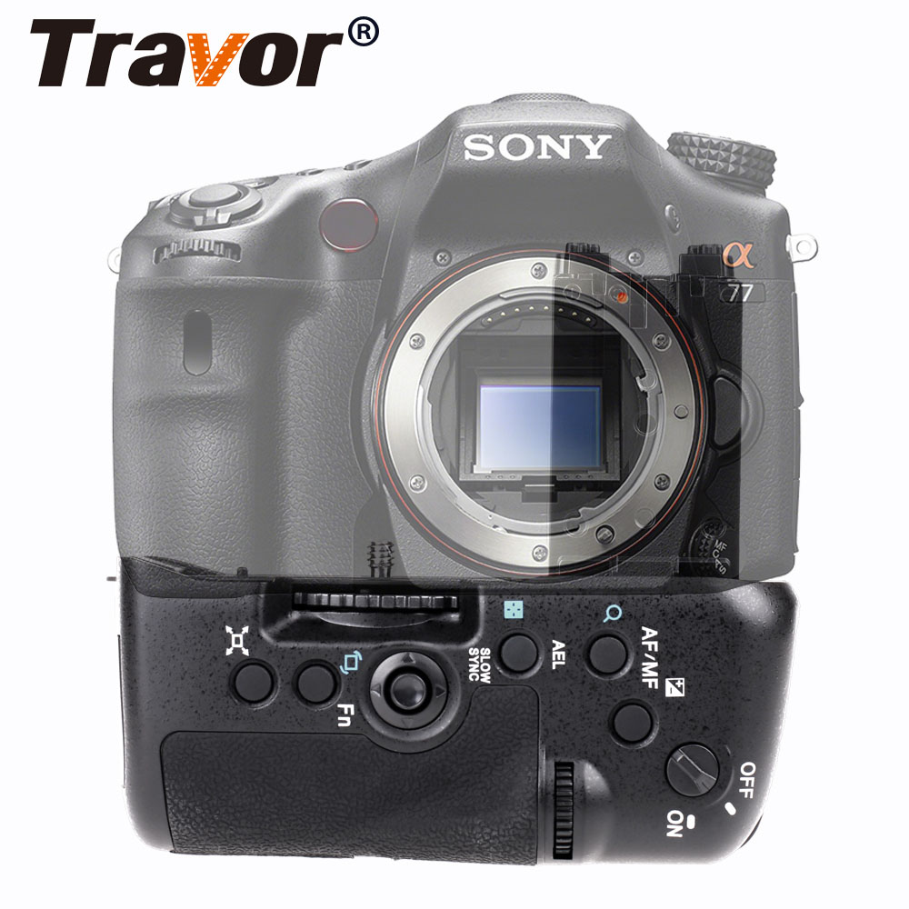 Travor New Arrival Vertical Battery Grip For Sony A77 A77ii A77V A99II Cameras replacement VG-C77AM travor bg 3b replacement battery grip for sony a77 a77v