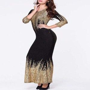 Image 5 - Ücretsiz Kargo Yeni Afrika Kadınlar yaz elbisesi Altın Folyo İnce uzun kollu elbise Bronzlaşmaya Köpük Moda Sıcak Satış