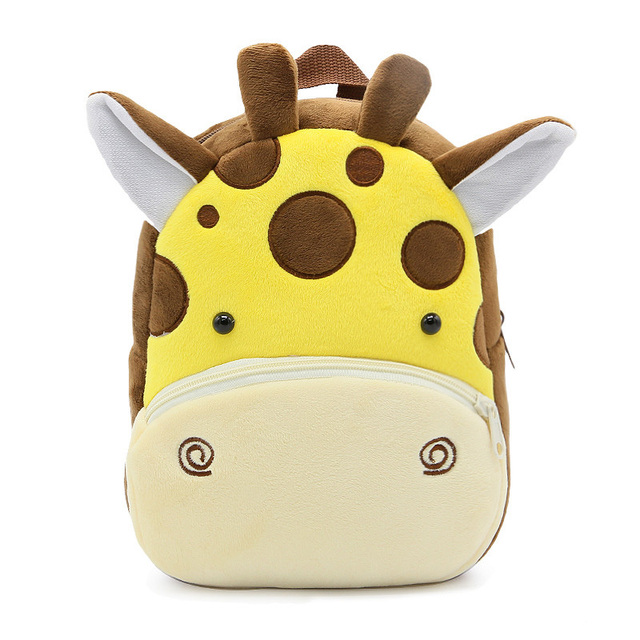 2020 3D Cartoon Animal Plush Children Backpack Kindergarten 1