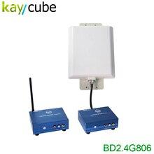 BADA 2.4 Ghz 3 W CANALES Estéreo Izquierda y Derecha de Audio Inalámbrico/Video AV Transmisor Receptor Kit (100 V ~ 240 V AC) Por Satélite/DVD Vídeos