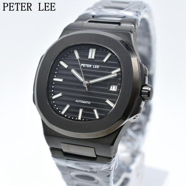 2017 PETER LEE marca superior de lujo automático mecánico hombres reloj de  cuero regalo impermeable reloj 4d704ef8b800