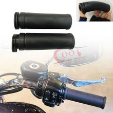 Black Rubber Handlebar 1″ Inch 25MM HAND GRIPS Fits For Harley Davidson Iron 883 XL 1200 Sotail Fat Boy Bob Cruiser Chopper