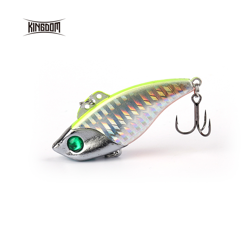 Kingdom fishing lure VIB45mm 8g,45mm 12.5g,60mm 21g  vibration hard bait fishing tackle VMC hook model 5366 export prefessional fishing lure minow hard bait 9cm 30g 3 vmc hook laser scale body inside steel balls for every water depth