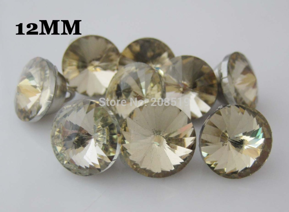 RB001 Brown color glass buttons 12mm shank sewing 100pcs/lot sofa decorative button garment accessories