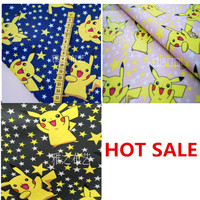 Pikachu Chemical Fiber Fabrics Waterproof Oxford Cloth For Patchwork 90 Cotton Unicorn PVC DIY Sewing Tablecloth