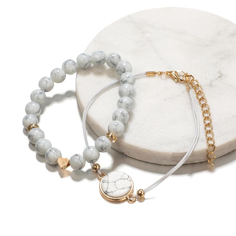 30 Styles Mix Turtle Heart Pearl Wave LOVE Crystal Marble Charm Bracelets for Women Boho Tassel Bracelet Jewelry Wholesale 10