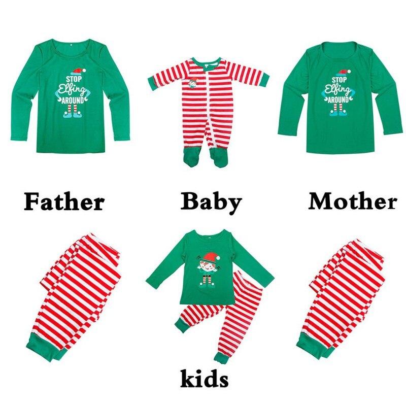 2017 New Hot Family Christmas Pajamas Matching Christmas Look Christmas Print Parents Set 4Kinds Warm Clothes For Family