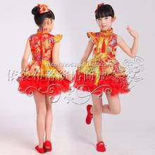 DJGRSTER 2017 caliente tradicional chino antiguo traje de baile trajes ropa niños niñas niños niñas vestidos de baile de disfraces