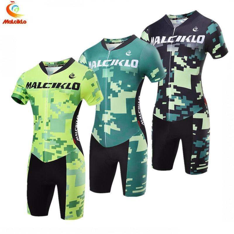 Malciklo triathlon skinsuit 2018 branco pro conjuntos