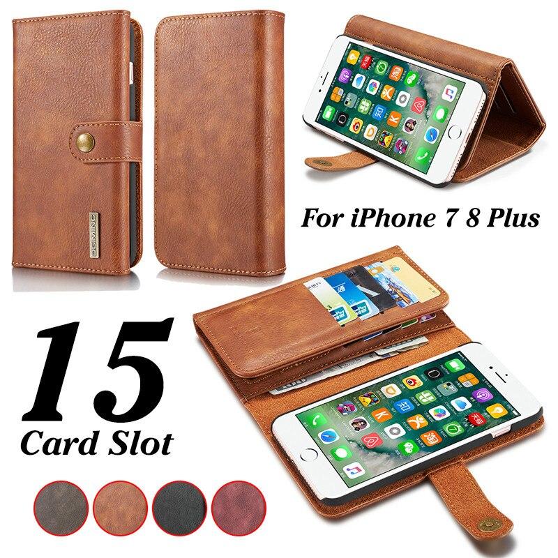 DG. ming кожаный чехол для iPhone X 7 8 6 6 S плюс съемная 2 в 1 откидная крышка для Samsung galaxy Note 8 S8 плюс S7 Edge телефона
