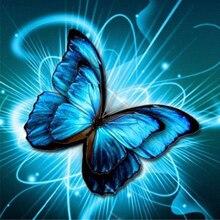 DIY Diamond Painting Butterfly Flowers Cross Stitch Kits Full Mosaic Crystal Embroidery Patterns Rhinestones