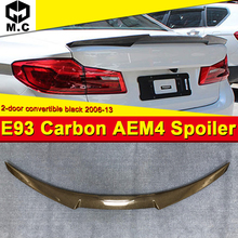 For E93 3 series 2-DR coupe convertible high kick Trunk spoiler wing Carbon fiber M4 style 325i 330i 335 rear 06-13
