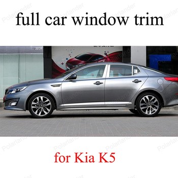Stainless Steel Car Sill frame Exterior Accessories For K-ia K5  full Window Trim  car styling with column