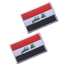 Embroidered Iraq Flag Patch Tactical 3D Patches Combat Badge Fabric National Flags Armband Badges for hat, jakect