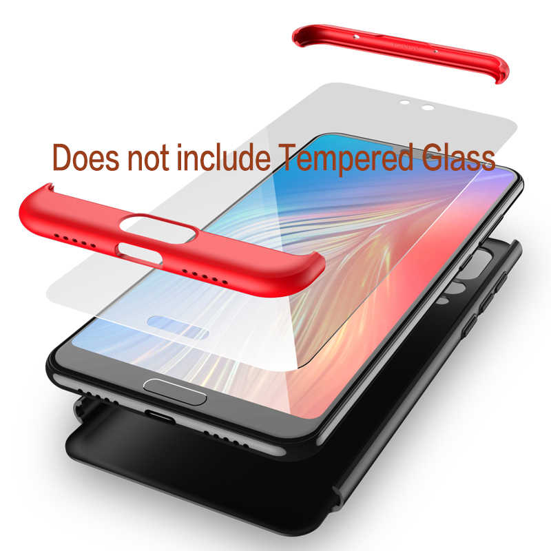 For Huawei P20 Pro Lite 360 Full Cover Mashup Color Glossy Case Luxury Armor Protection Hard Acrylic PC Matte Cover