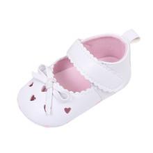 Noworodki Baby Shoes Śliczne Bowwęzłem Hollow niemowląt Baby Girls Crib buty miękkie Sole antypoślizgowe sneakers buty dziewczyny First Walkers tanie tanio W MUQGEW Dziewczynka Tkanina bawełniana Stałe Bawełna Slip-on Płytkie Zima Pasuje do rozmiaru Weź swój normalny rozmiar