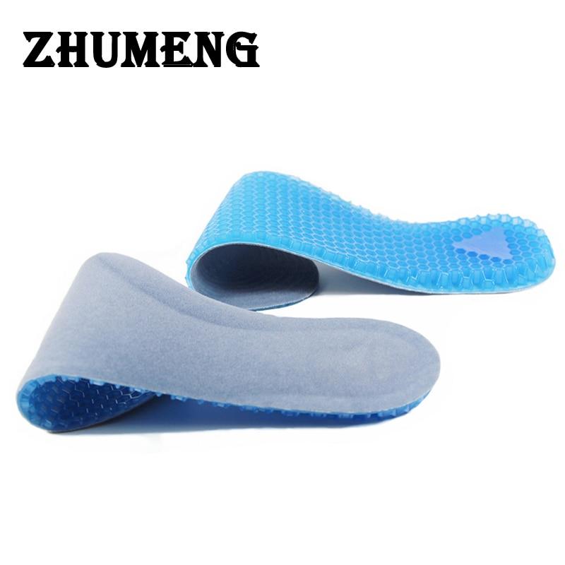 ZHUMENG Men Women Gel Insoles Massaging Silicone Insole Deodorant Pads Orthopedic Plantar Fasciitis Running Shoe Insoles 2 Sizes стоимость