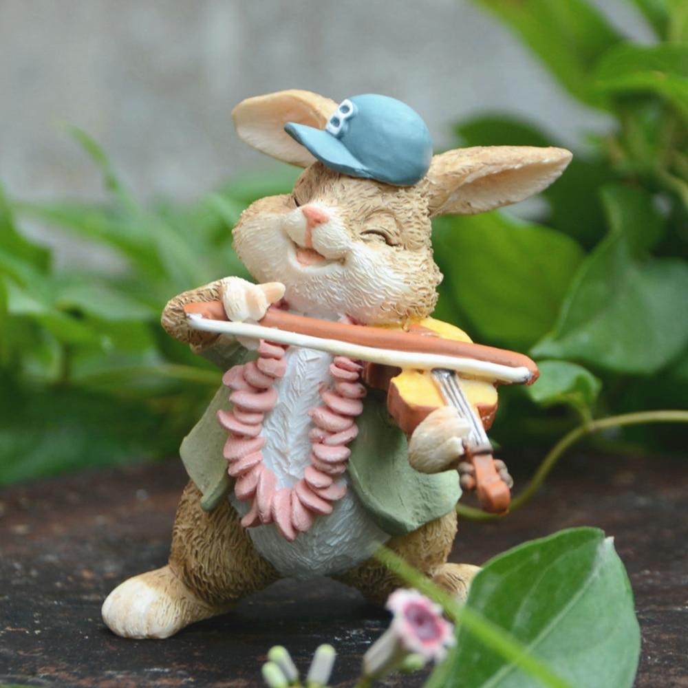 On a regular basis Assortment Cute Rabbit Figurine Residence Decor Bunny Fairy Backyard Decoration Micro Panorama Easter Ornament Reward